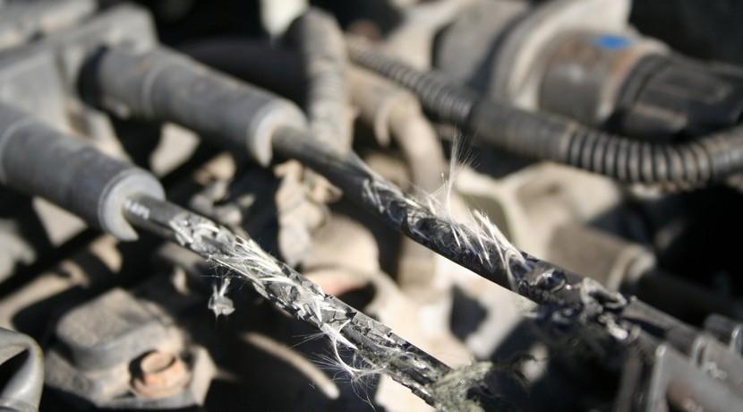 Con unos cables de bujías así, nada puede ir bien