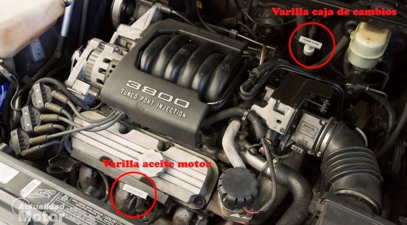 Varilla para comprobar el nivel de aceite de transmisión de la caja de cambios