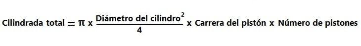 Fórmula de la cilindrada total