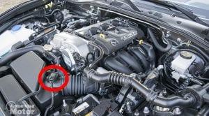 Motor Mazda con sensor MAF