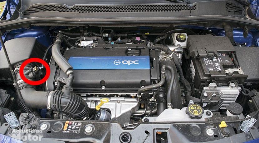 Sensor MAF en un Opel