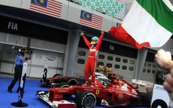 Fernando Alonso Sepang 2012