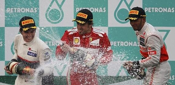 GP Malasia Podium 2012