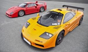 McLaren F1 vs Ferrari F40