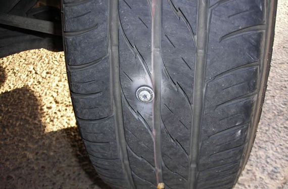 Neumático Pinchado