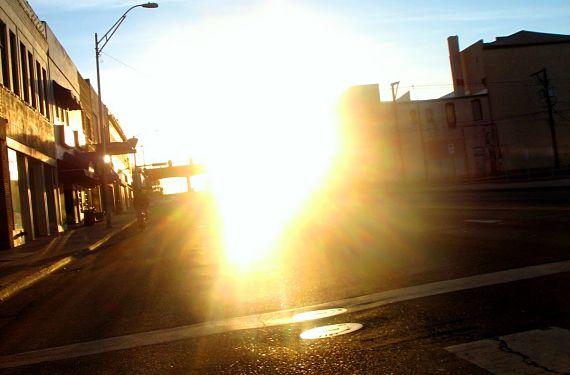 Deslumbramiento producido por el sol