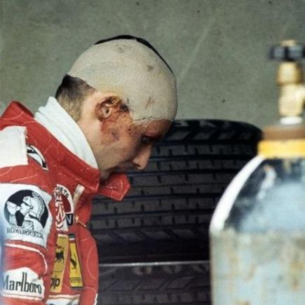 Lauda en el GP Monza