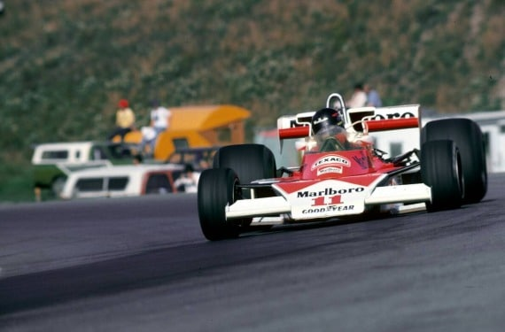 James Hunt en el GP Canada