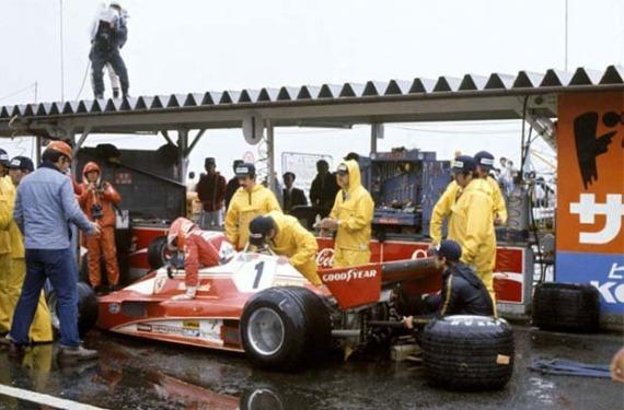Lauda abandona en el GP de Japón