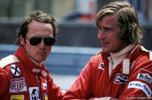 James Hunt y Niki Lauda