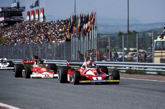 Hunt y Lauda en el GP de España