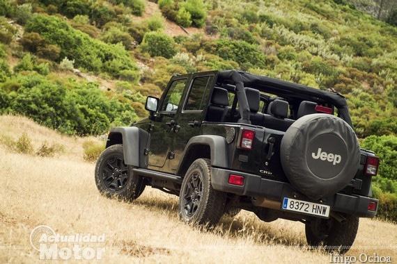 Jeep Wrangler con el Freedom Top retirado