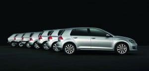 VW Golf siete generaciones