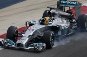 Lewis Hamilton, Mercedes, Test Baréin 2014