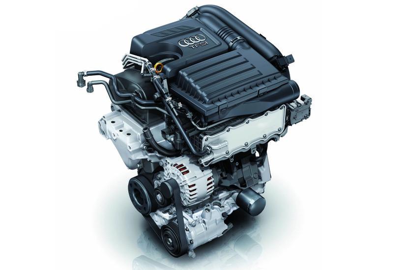 Vista de un motor TFSI de Audi