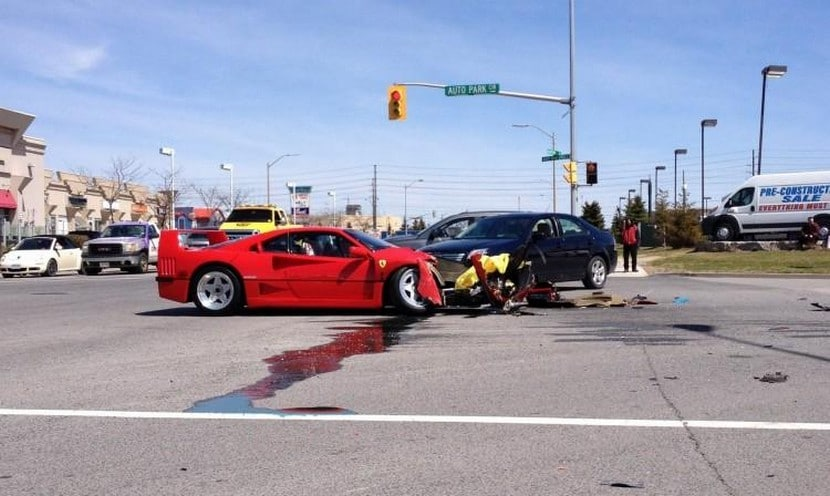 Accidente Ferrari F40