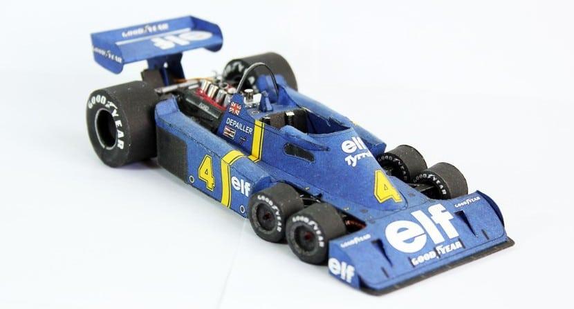 Maqueta papel Tyrrell P34 detallada
