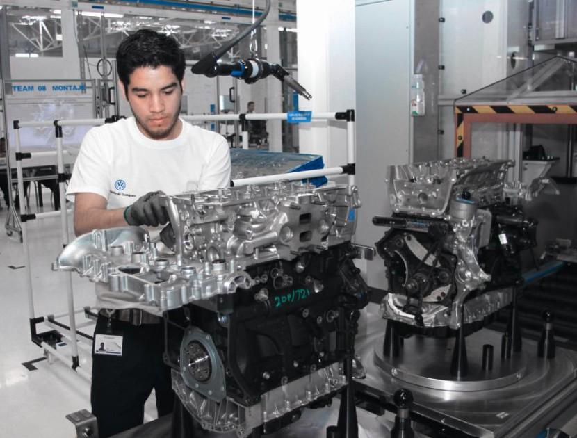 Montaje de un motor Volkswagen
