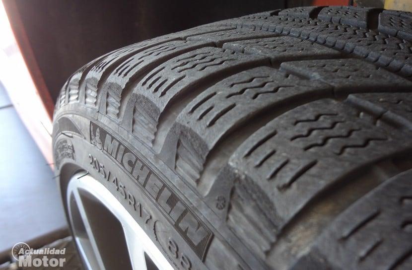 Michelin Pilot Alpin banda de rodadura desgastada