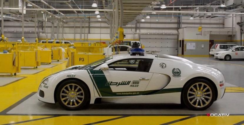 COlección de coches de la policía de Dubái en vídeo