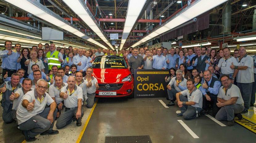 Inicio de producción Opel Corsa 2015 Figueruelas