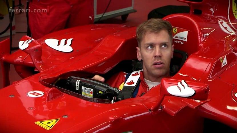 Primeros test de Sebastian Vettel en Ferrari