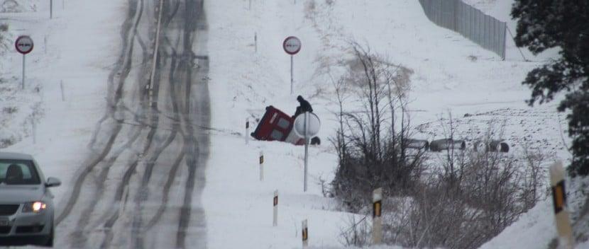 accidente coche nieve