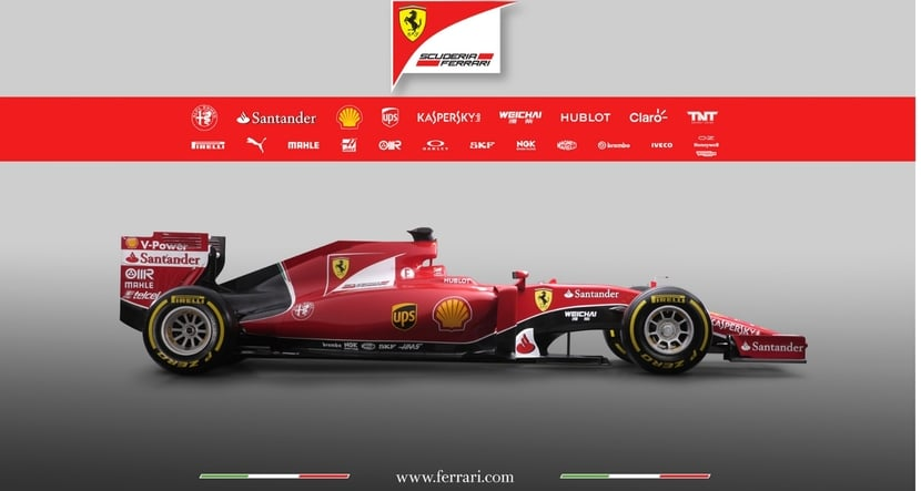 Vista lateral Ferrari SF15-T