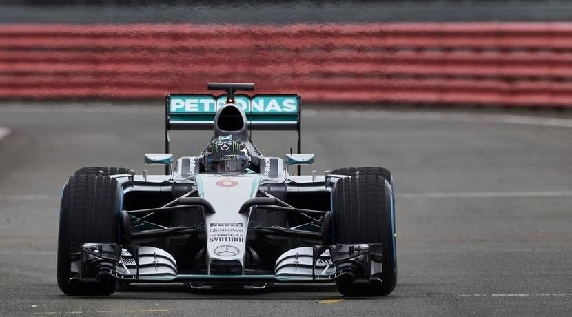 Mercedes W06 en Silverstone