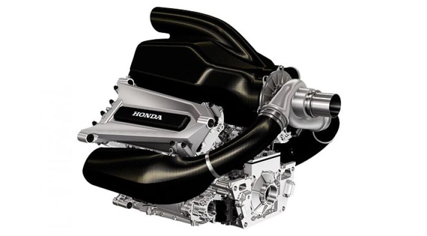 Render del Motor Honda V6 Turbo para F1