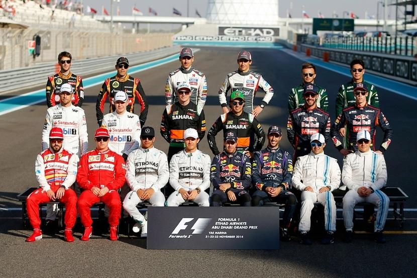 Fotografía oficial de pilotos F1 2014