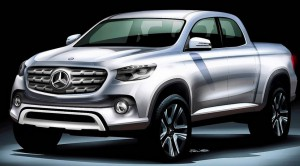 Mercedes pick-up boceto