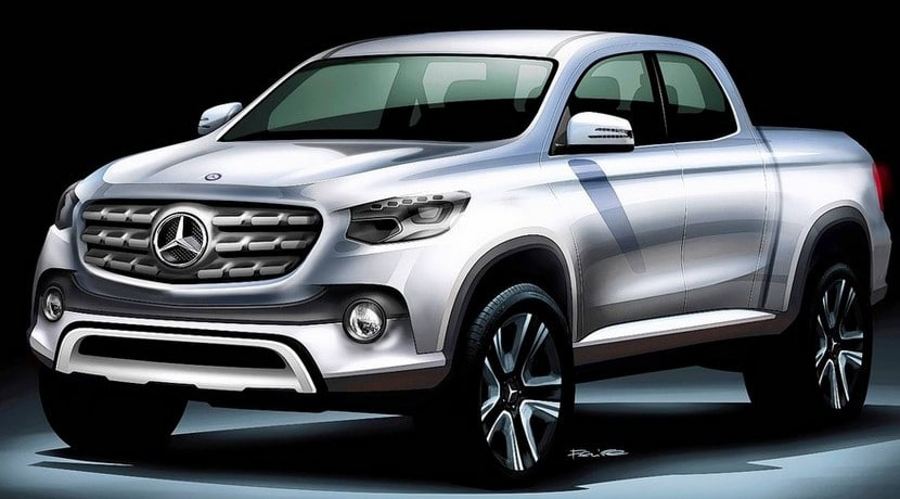 Mercedes pick-up boceto