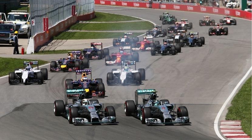 F1 carrera 2014  con los Mercedes delante