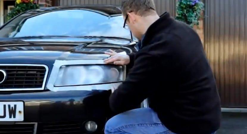 Pulir faros de coche