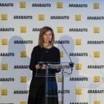 Jasone Rodríguez en la inauguración de Renault Arabauto