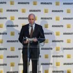 Álex Rodríguez en la inauguración de Renault Arabauto