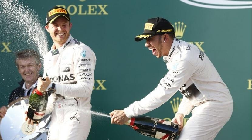 Doblete de mercedes: podium Rosberg Y Hamilton