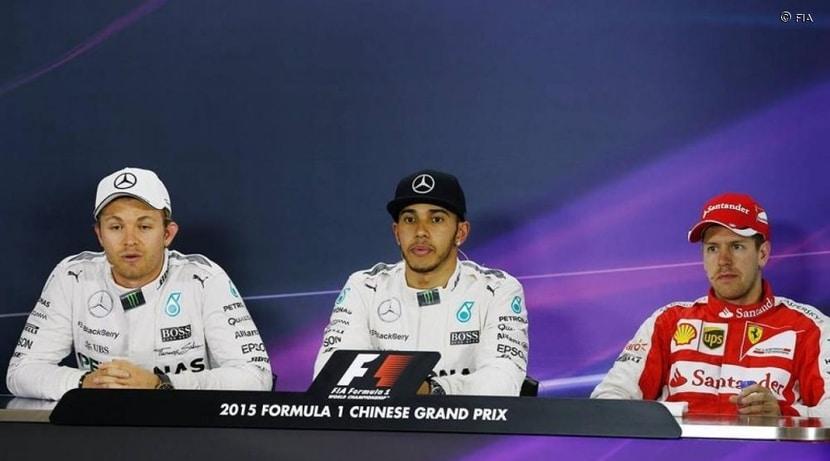 Rueda de prensa: Rosberg, Hamilton, VEttel
