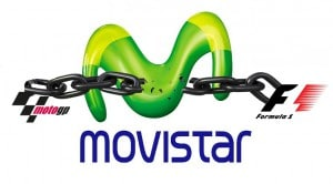 Movistar TV logo cadena F1 y MotoGP