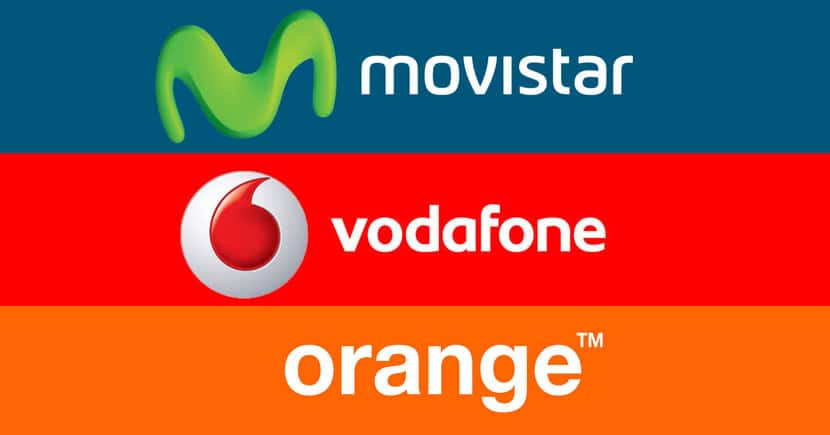 Logo Movistar, Vodafone, Orange