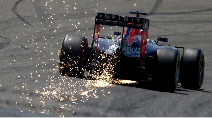 Red Bull chispas Bahrein