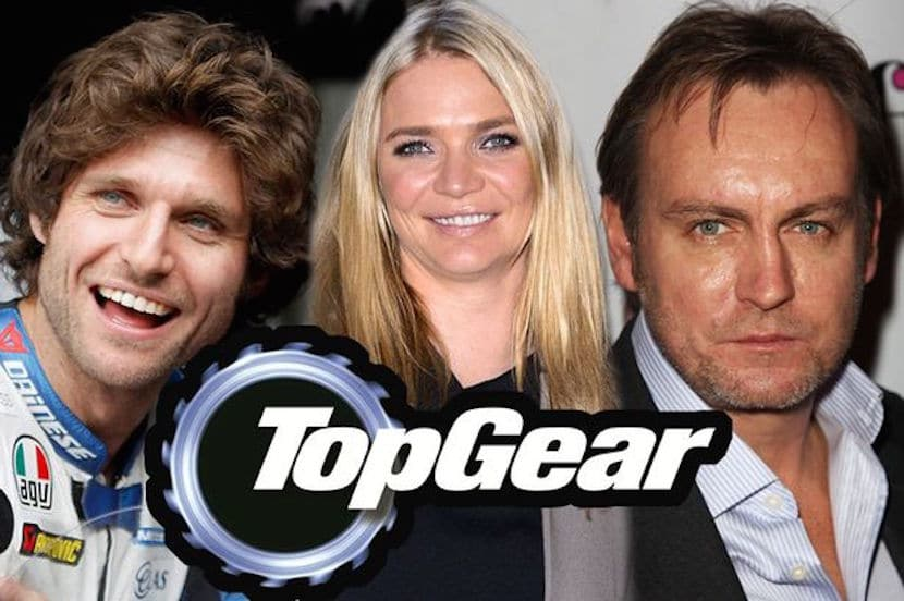 Guy Martin, Jodie Kidd y Philip Glenister Top Gear