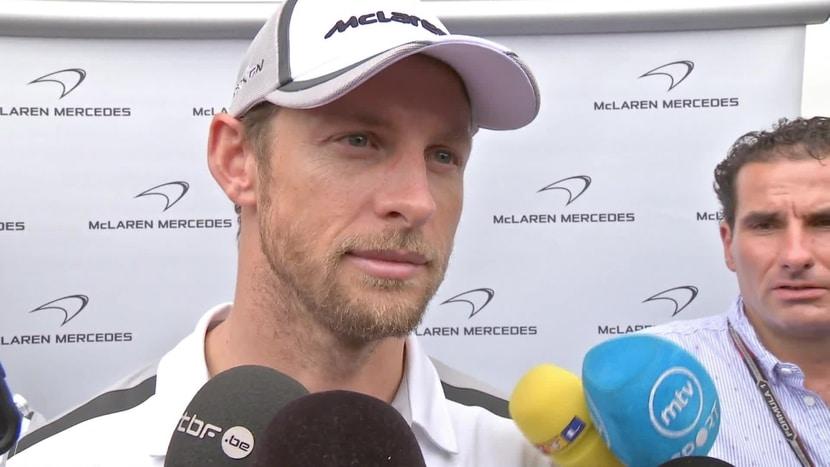 Jenson Button ante la prensa
