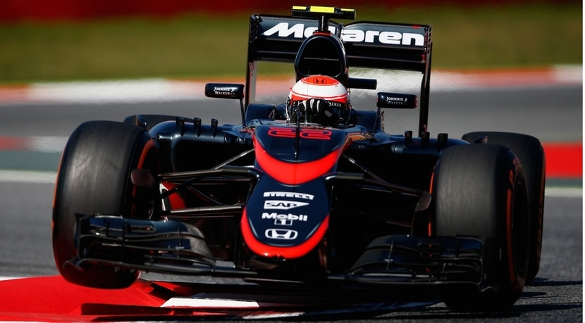 McLaren MP4-30 de Button en el GP de España 2015