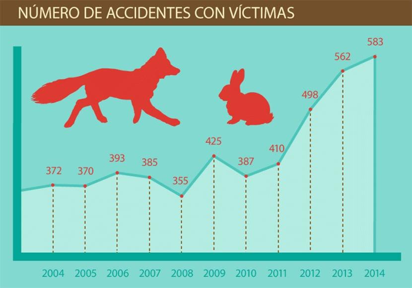 Accidentes animales victimas