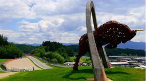 Monumento del Toro en el Red Bull RIng