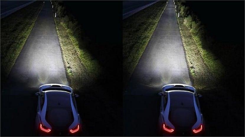 Sistema de luces láser en el BMW i8