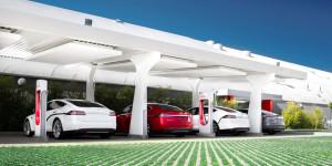 Tesla Supercargadores lleno