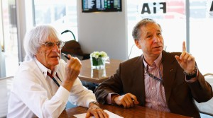 Jean Todt y Ecclestone